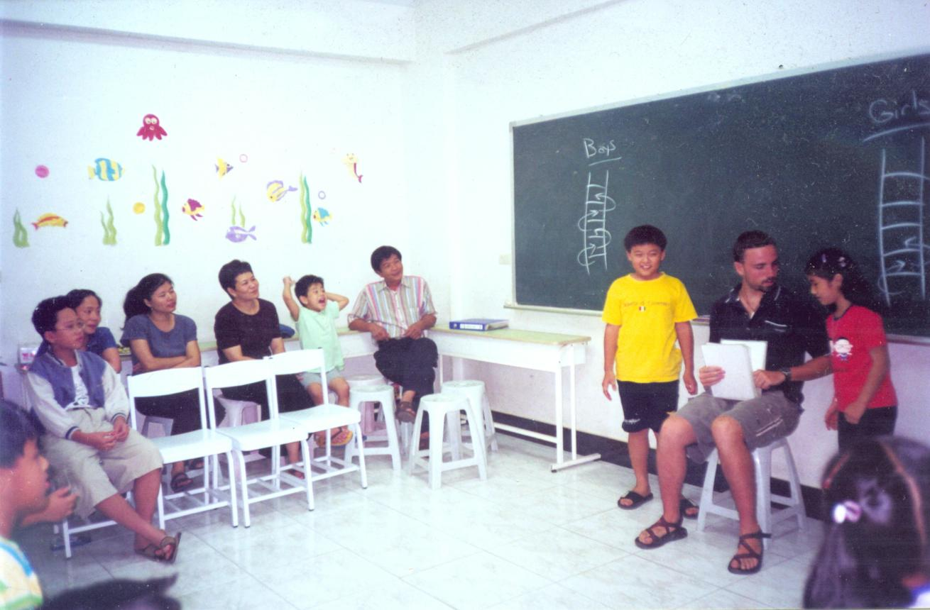 Teaching during a PTA class.