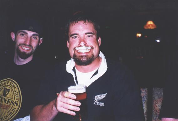 C'mon now Sean...you're supposed to drink the pint, not play with it!