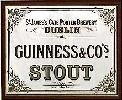 Old Time Guinness Mirror