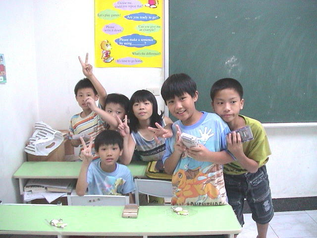 Here are some of CJ's precious students at Jordan's Language School in Yung Kang, Taiwan.